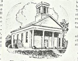 black & white sketch of Weymouth Community Church