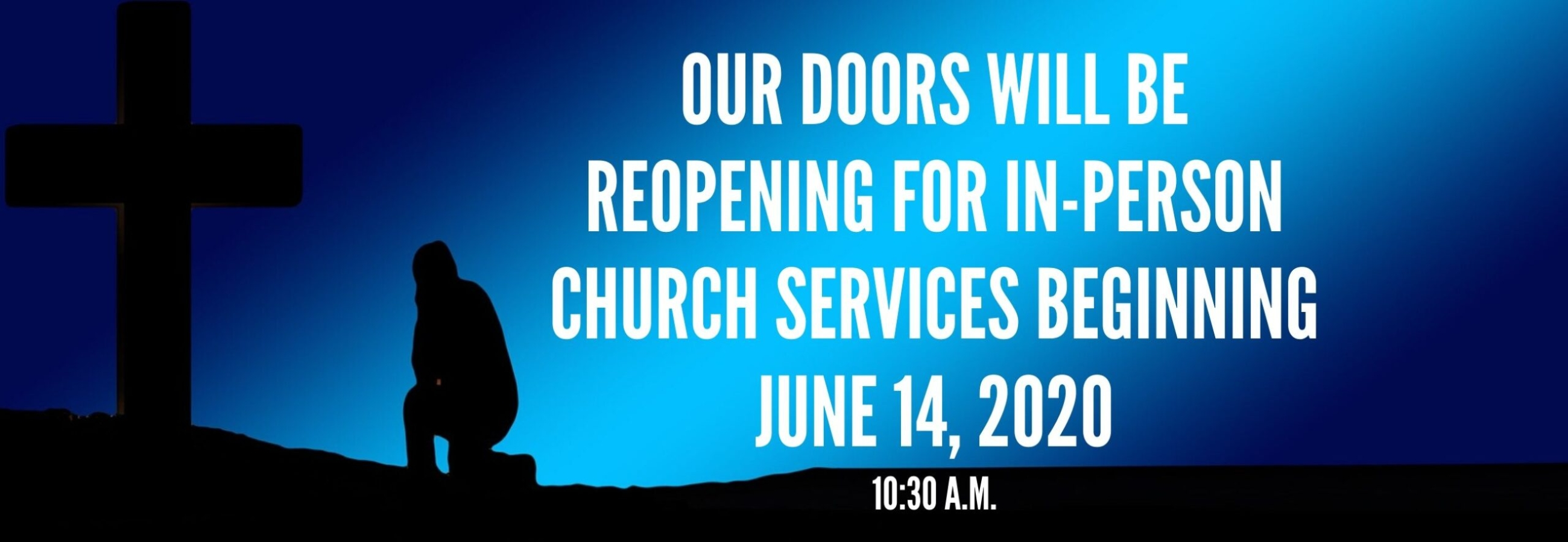 Weymouth Community Church Reopening in-person church service