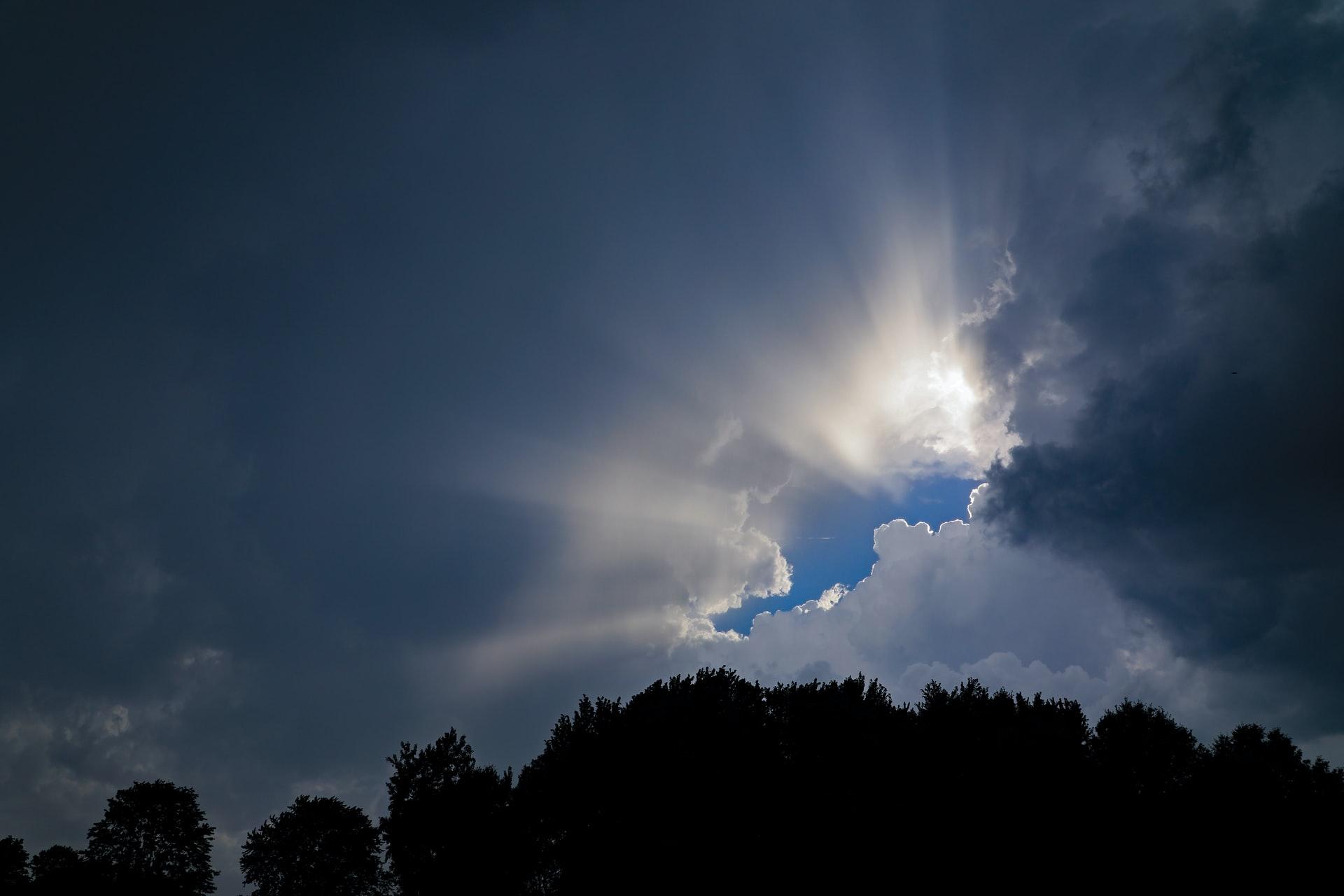 A little bit of heaven as sun peeks through clouds